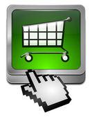 Shopping Button with cursor — Stock Photo