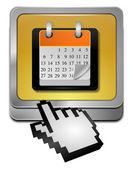 кнопку календаря с курсором — Стоковое фото