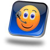Service Hotline Button — Stock Photo