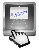 E-learning-taste mit cursor — Stockfoto