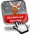 Button Christmas Special with reindeer and Cursor — 图库照片