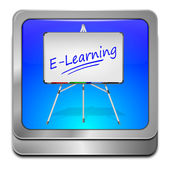 E-Learning Button — Stock fotografie