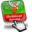 Button Christmas Special with reindeer and Cursor — Stock Photo #37166473