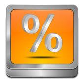 Tlačítko sleva s symbol procenta — Stock fotografie