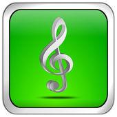 Botão de música — Foto Stock