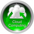 Stockfoto: Button Cloud Computing