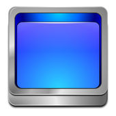 Blue blank Button — Stock Photo