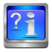 信息和问题按钮 — 图库照片