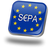 SEPA - Single Euro Payments Area - Button — Stock Photo