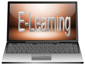 Laptop with E-Learning — Foto de Stock