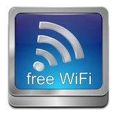 Free wireless WiFi button — Stock Photo