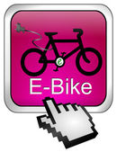 E-Bike Button with Cursor — Stok fotoğraf
