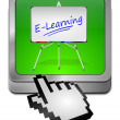 Stock Photo: E-Learning Button with cursor