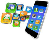 Smartphone with apps — Stok fotoğraf