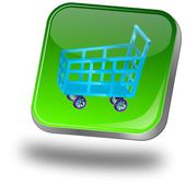 Shopping Button — Stockfoto
