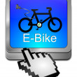 E-Bike Button with Cursor — Stock Photo #39165993