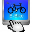 E-Bike Button with Cursor — Stock Photo