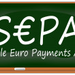 SEP- Single Euro Payments Areon chalkboard — Stock Photo #39235807