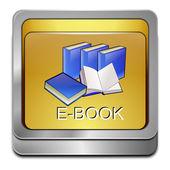 Tlačítko e knihy — Stock fotografie