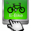 Stock Photo: E-Bike Button with Cursor