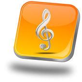 Musik-knappen — Stockfoto