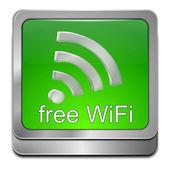 Free wireless WiFi button — Stock Photo