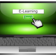 Stock Photo: Laptop with internet web search engine e-learning