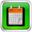 Stock Photo: Calendar button