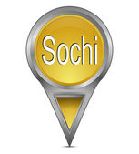 Map pointer with Sochi, Russia — Stock Photo