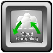 Button Cloud Computing — Stock Photo