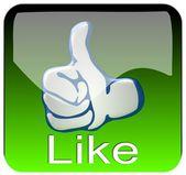 большой палец вверх app — Стоковое фото