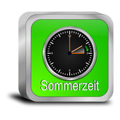 Daylight saving time button - in german — 图库照片