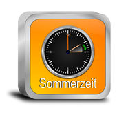 Daylight saving time button - in german — Stok fotoğraf