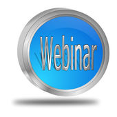 Webinar button — Foto Stock