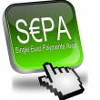 SEPA - Single Euro Payments Area - Button with cursor — Stock Photo #42351407
