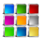 Internet web button set — Stock Photo