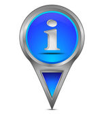 Map pointer with information symbol — Stock Photo