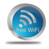 Free wireless WiFi button — Stockfoto