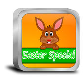 Button Easter Special with easter bunny — 图库照片