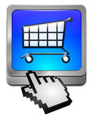 Shopping Button with cursor — Stock Photo