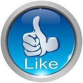 Thumb up button — Stock Photo