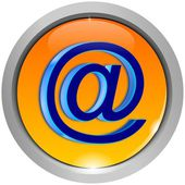 E-Mail Button — Stock Photo