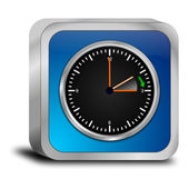 Daylight saving time button - in german — Stockfoto