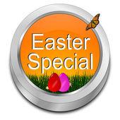 Paskalya Paskalya yumurtaları ile özel düğme — Stok fotoğraf