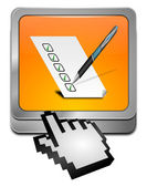 Botón con lista de verificación con cursor — Foto de Stock