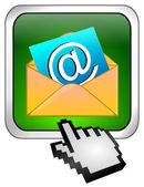 Pulsante e-mail con cursore — Foto Stock