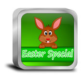 Button Easter Special with easter bunny — Foto Stock