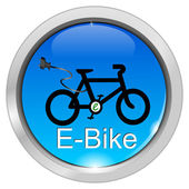 E-Bike Button — Stock Photo