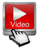 Play video Button with Cursor — Stock Photo