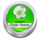 Public viewing Button — Stock Photo